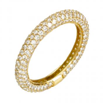 טבעת פס יהלומים מדגם Siempre