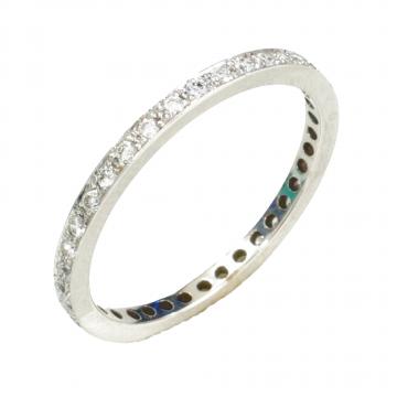 טבעת פס יהלומים מדגם Etéreo