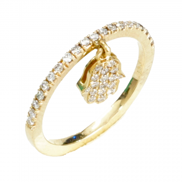 Classic Diamond Round Ring