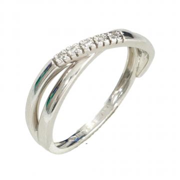 טבעת יהלומים מפותלת מדגם Violin
