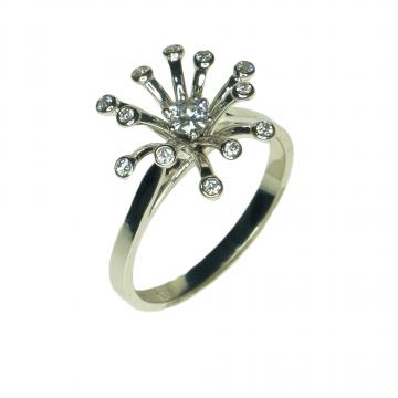 טבעת יהלומים מעוצבת מדגם Corona