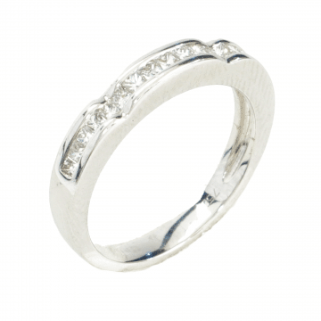 Gold and diamond stripe ring