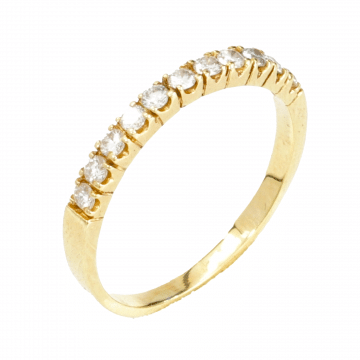 A thin stripe ring made of yellow gold