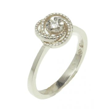 טבעת יהלום מעוצבת מדגם Spiral
