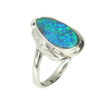 A diamond-studded ring