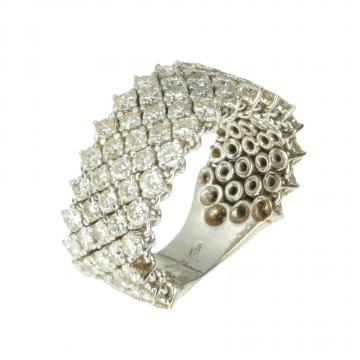 A diamonds-studded ring