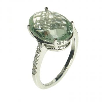 טבעת טופז ויהלומים מדגם Sara