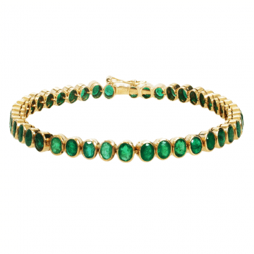 Green gold diamond necklace