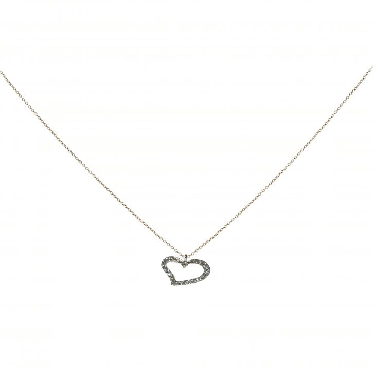 Gold and diamond heart pendant