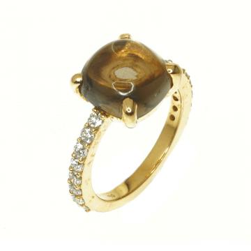 טבעת טופז ויהלומים מדגם Bern