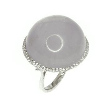 טבעת רוז קוורץ ויהלומים מדגם Meduza