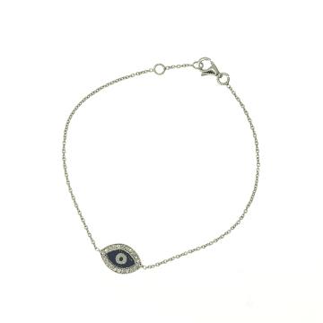 צמיד עין זהב ויהלומים מדגם Evil eye
