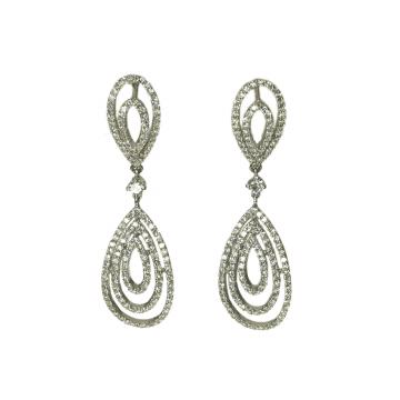 עגילים משובצים ביהלומים מדגם  Goutte earrings