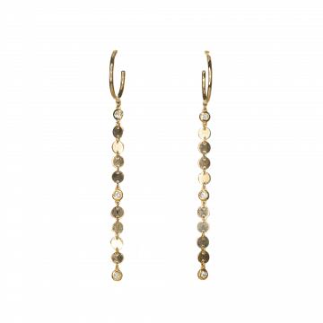 עגילי זהב ויהלומים מעוצבים מדגם Swing