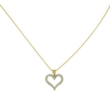 תליון זהב ויהלומים בצורת לב מדגם heart