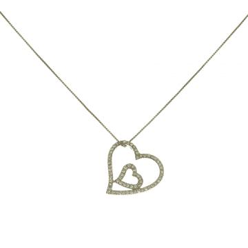 תליון לבבות יהלומים מדגם Hearts