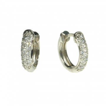 עגילי חישוק יהלומים מדגם Beezer