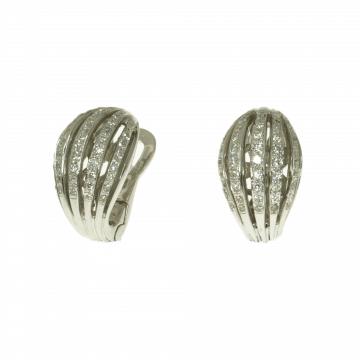 עגילי יהלומים מדגם Coquina