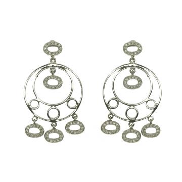 עגילים יהלומים תלוים מדגם Nina