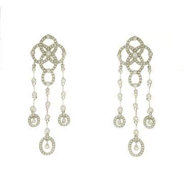 עגילים  יהלומים תלוים מדגם  Almaya