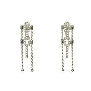 עגילים יהלומים תלוים מדגם  Hern