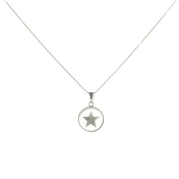תליון כוכב מסתובב זהב ויהלומים מדגם Round star